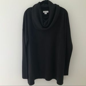 Jaclyn Smith Cowl Neck Black Sweater Size XL